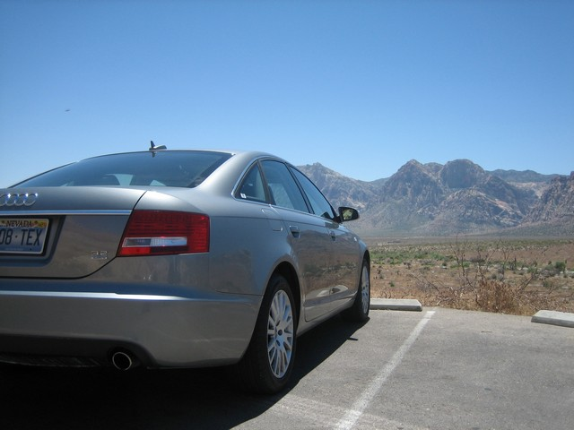 The Audi A6 at Red Rocks