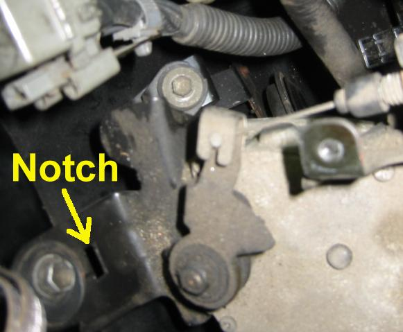 Notch for speed control actuator cover