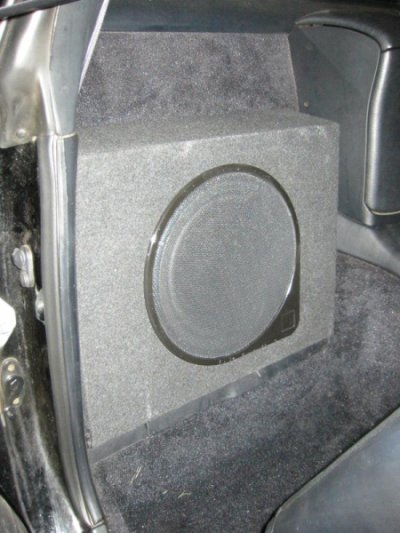 Sub enclosure close-up