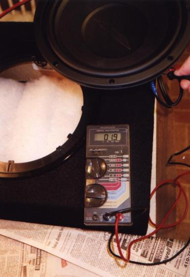 Checking subwoofer impedance