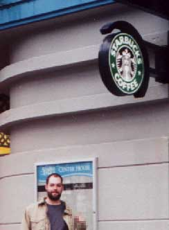 Starbucks gettin' dissed [Yashica T4S]