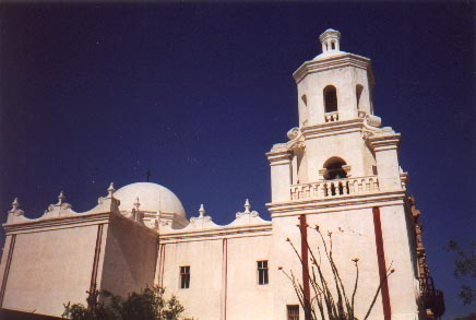 Side view of San Xavier [Yashica T4S]